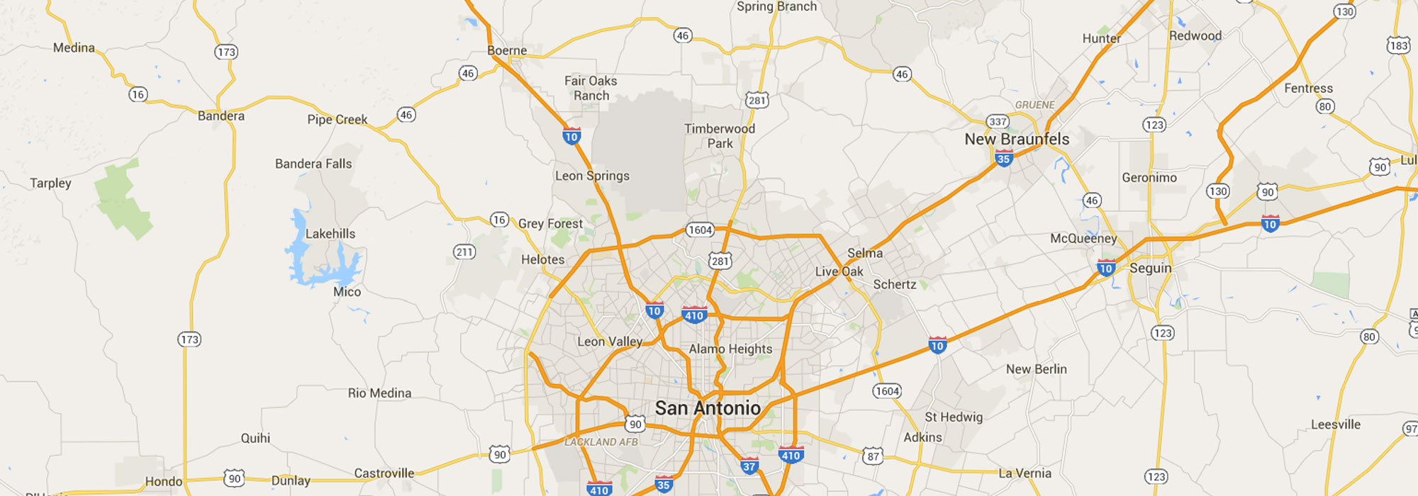 San Antonio HVAC Map